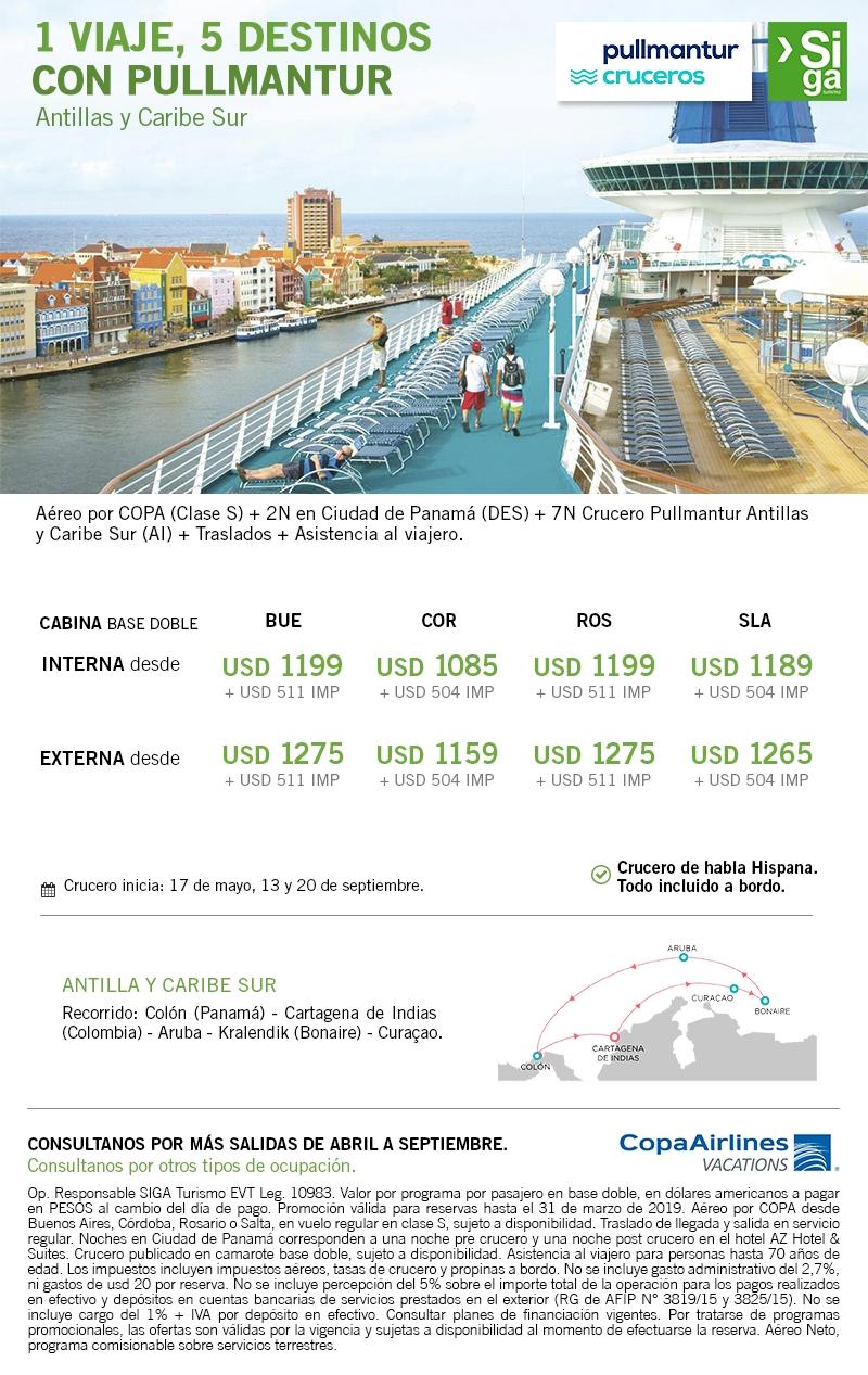 Cruceros Pullmantur - Antillas y Caribe Sur desde Panamá