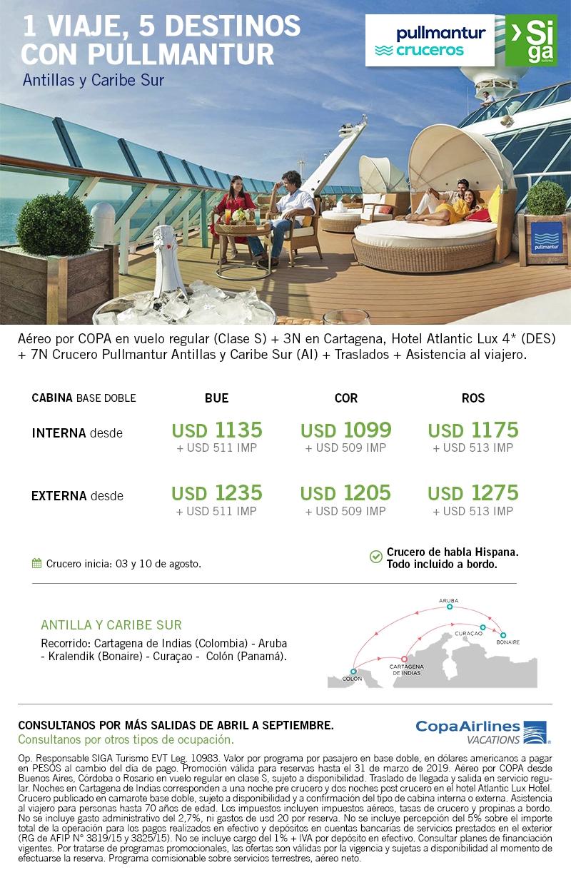 Antillas y Caribe Sur desde Cartagena