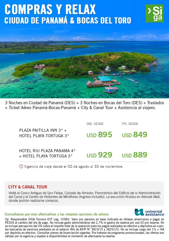 Compras en Panamá y relax en Bocas del Toro !