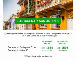 Cartagena y San Andrés !