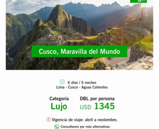 Cusco, Maravilla del Mundo !