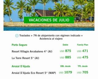 VACACIONES DE JULIO - BRASIL