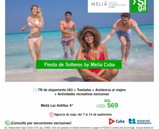 Fiesta de Solteros en Meliá Cuba