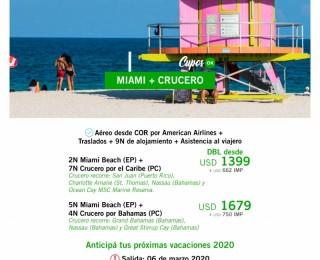 Miami & Crucero desde COR