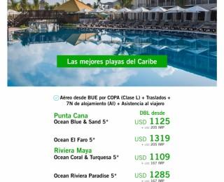 Punta Cana y Riviera Maya Ocean desde BUE