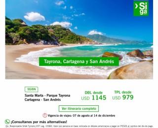 Cartagena y San Andrés con Parque Tayrona