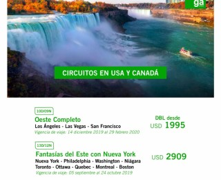 Circuitos en USA y Canadá